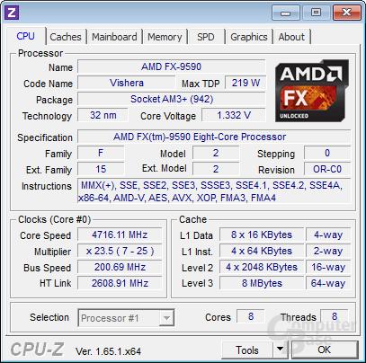 AMD FX-9590 bei Last auf allen Kernen
