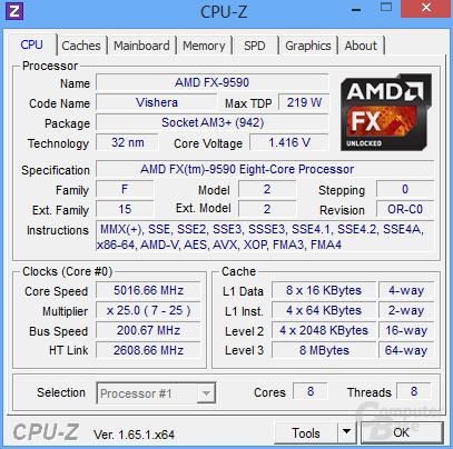 AMD FX-9590 im Turbo für ein/zwei Threads
