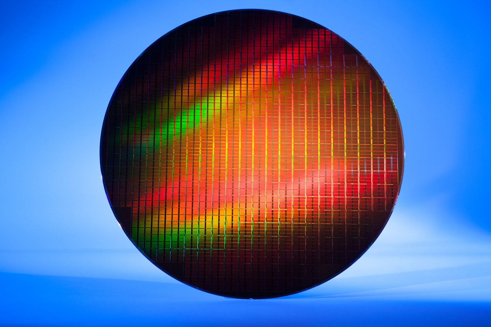 Wafer mit 16-nm-NAND-Chips