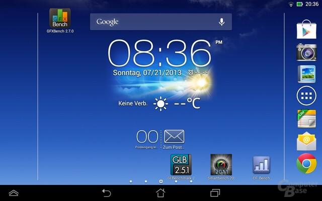 Android 4.2.1 auf dem Asus MeMO Pad HD 7