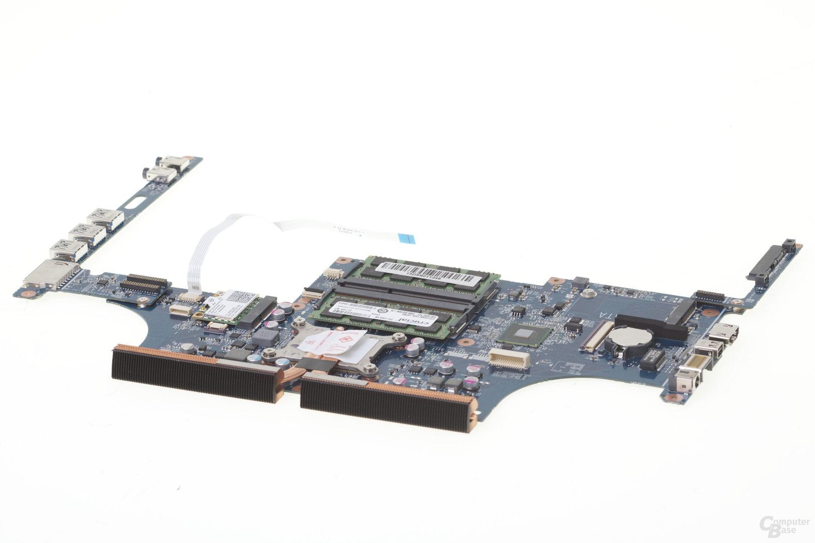 Mainboard des Schenker S413 mit Intel Core i7-4750HQ