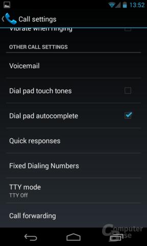 Android 4.3 - T9-Wählfeld