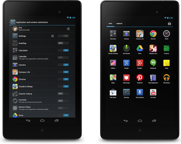 Android 4.3 - Restricted Profiles