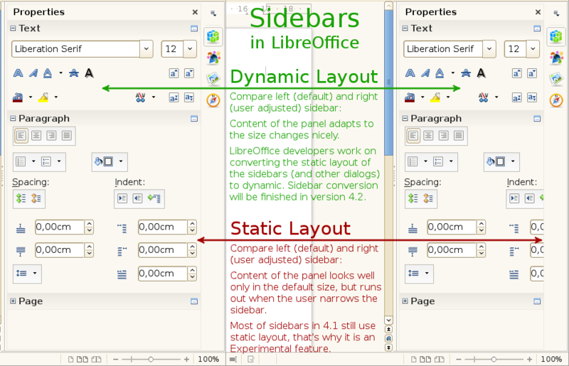 LibreOffice 4.1 Sidebar