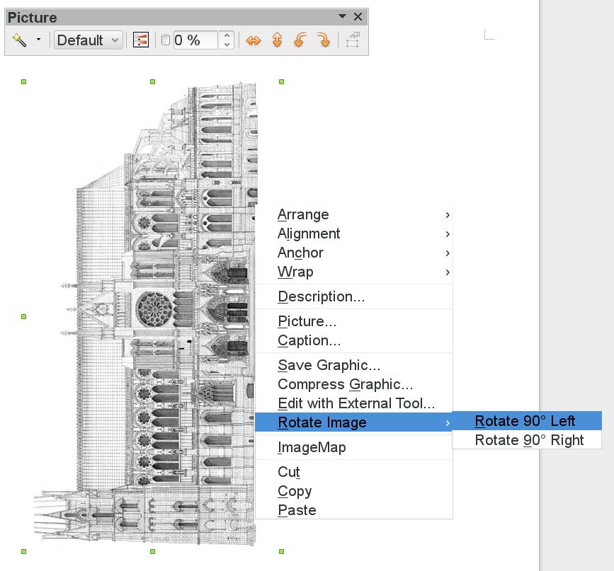 LibreOffice 4.1 Bilder-Rotation