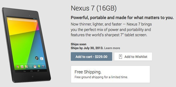 Nexus 7 bereits im Angebot