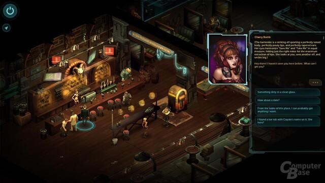 Shadowrun Returns – Eine zwielichte Kneipe dient als Heimathafen zwischen Missionen