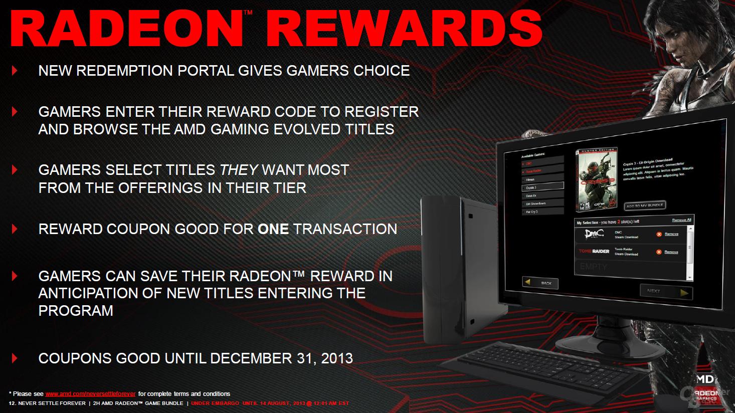 AMD Never Settle Forever: Bilder