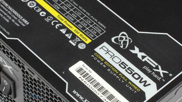 XFX Pro Series Full Wired Edition 550W im Test: Zwei Mal auffällig