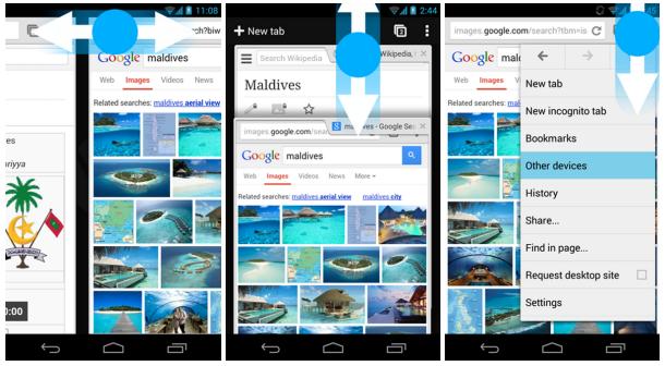 Chrome 30 Android-Gestensteuerung
