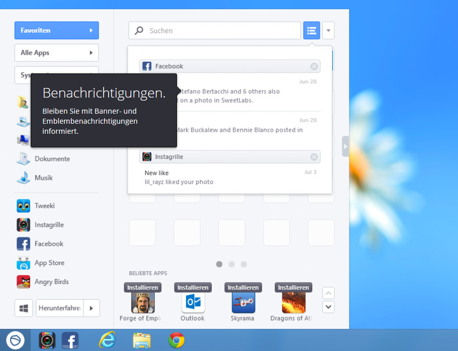 Sweetlabs Pokki für Windows 8