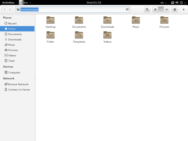 Gnome mit Header-Bar