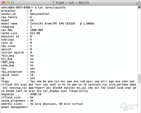 Informationen zum Intel Atom CE5335