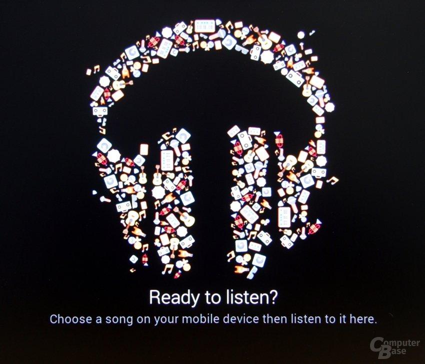 Play-Music-Startbildschirm