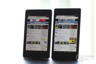 Nexus 7: 2012 vs. 2013 (v.l.n.r.)