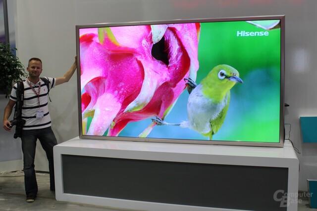 ultra hd fernseher mit 110 zoll von hisense zur ifa computerbase. Black Bedroom Furniture Sets. Home Design Ideas