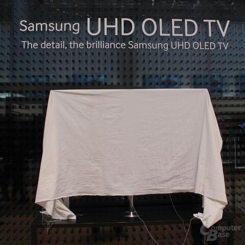 Samsung OLED-UHD-Fernseher - noch verdeckt