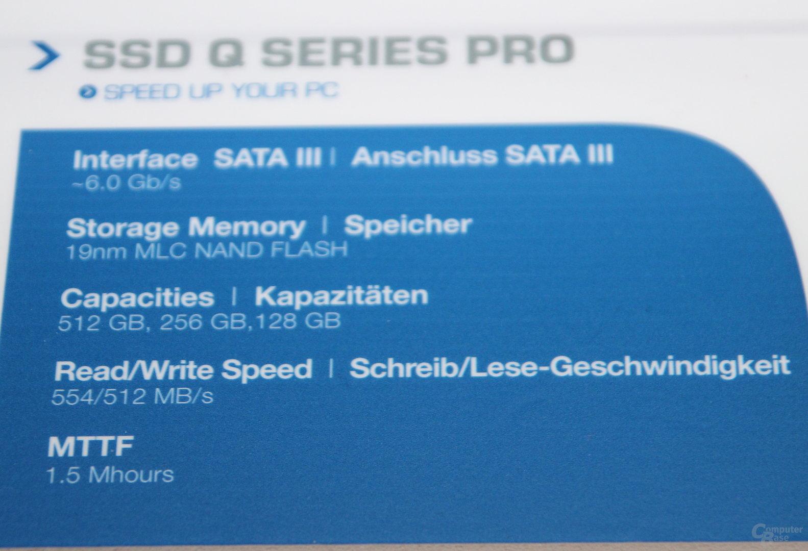 Toshiba SSD Q Pro Series