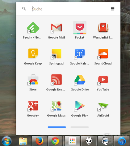 Google Chrome App-Launcher