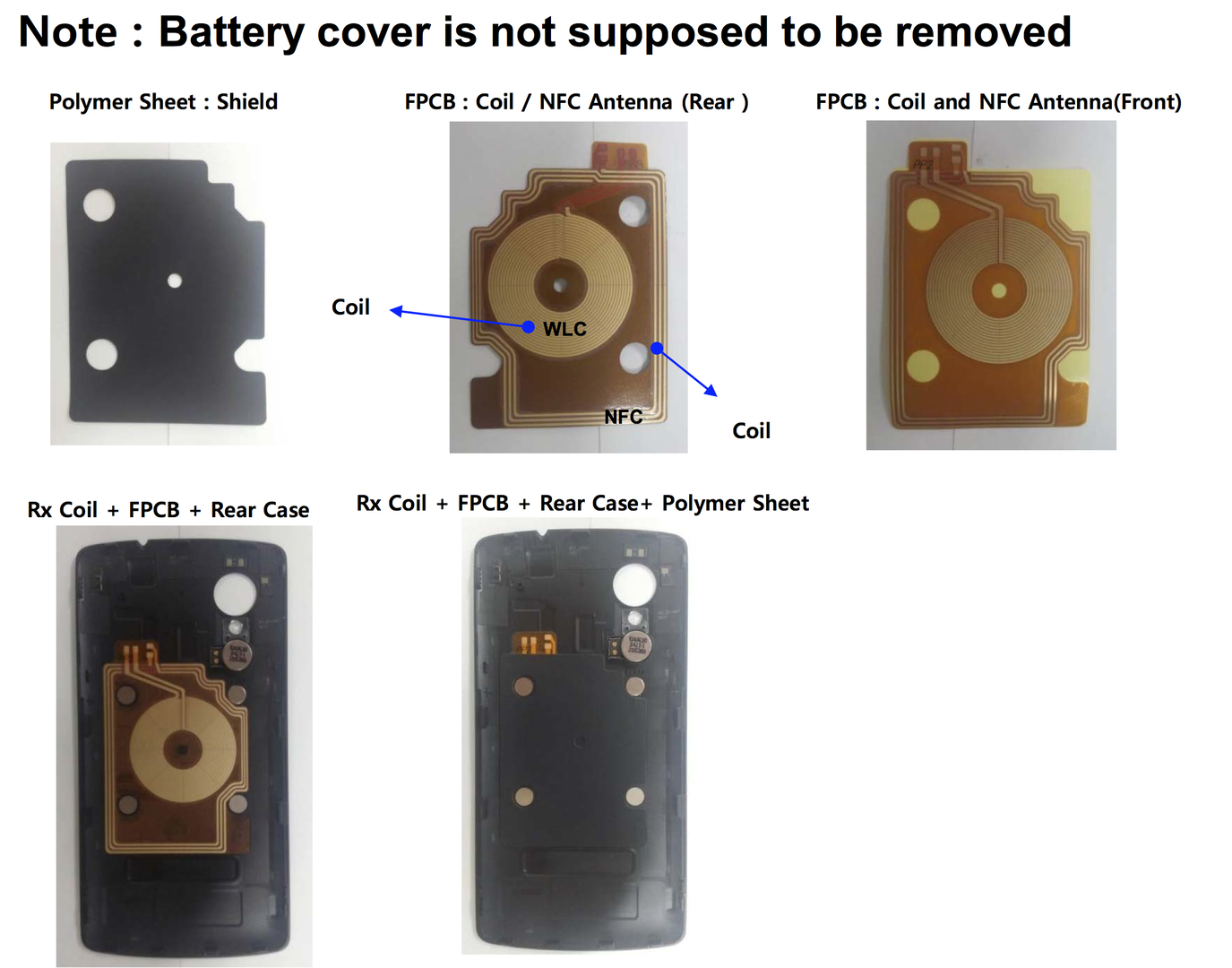 Rückseite und Ladefunktion des LG D820