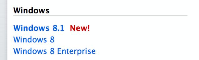 Windows 8.1 bei MSDN