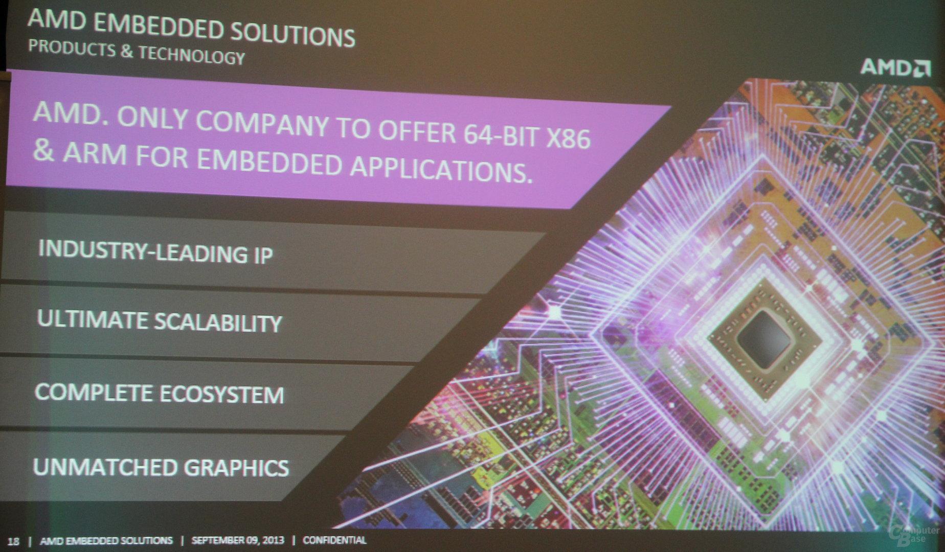AMD-Präsentation zum Embedded-Markt 2014