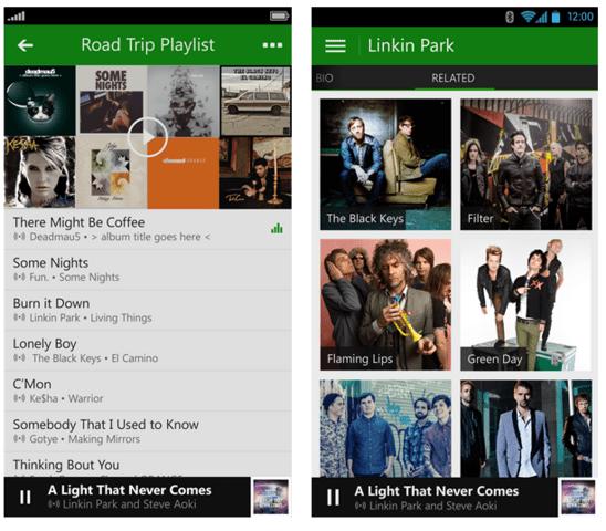 Xbox Music für iOS und Android
