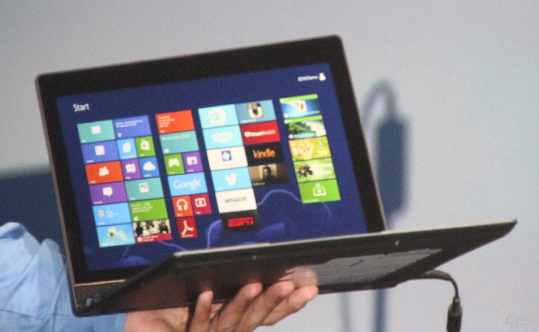 "Intel zeigt lauffähiges ""Broadwell""-Notebook"