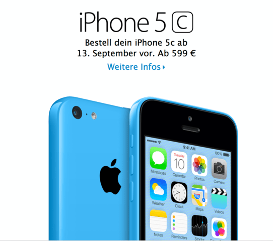 Das iPhone 5C - Ab 599 Euro