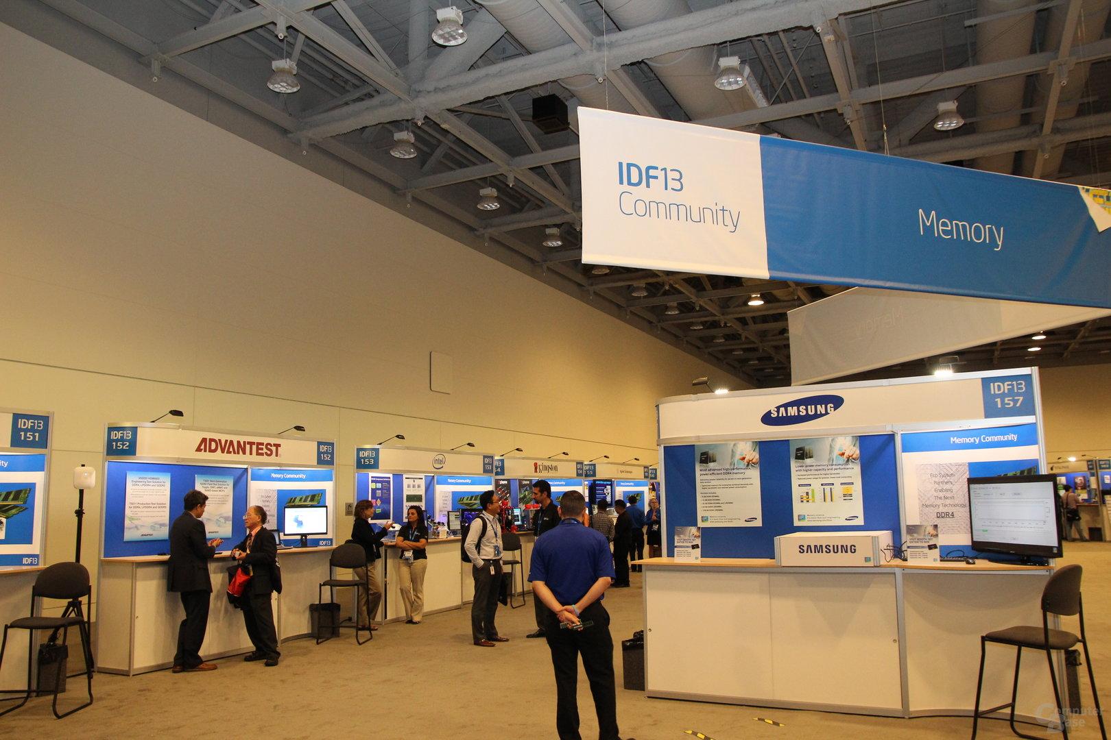 Die Speichersparte im Technology Showcase des IDF 2013