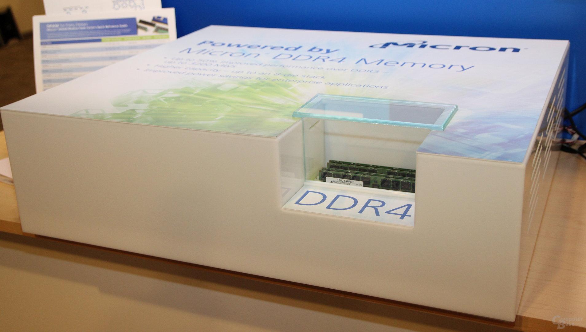 DDR4-Demo-Kit auf dem IDF 2013