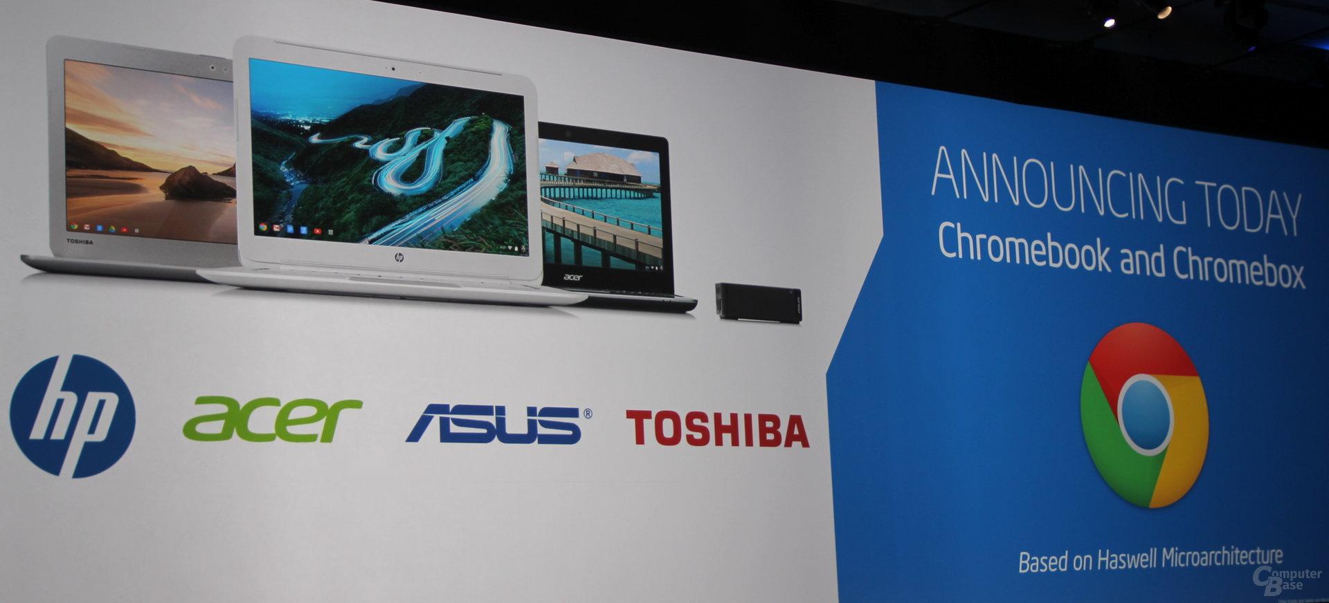 "Chromebooks mit Intels ""Haswell"""