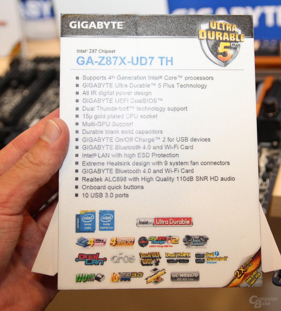Gigabyte GA-Z87X-UD7 TH