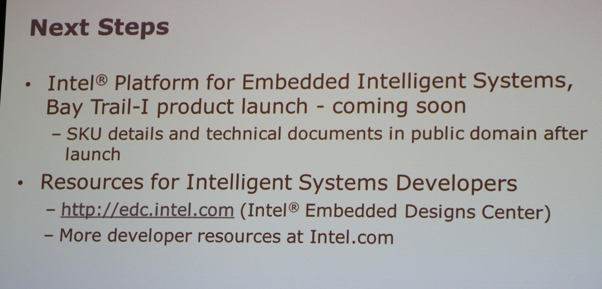 "Intels ""Bay Trail-I"" für ""Intelligent Systems"""