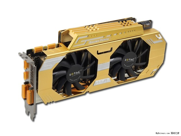 Zotac GeForce GTX 760 Extreme Edition in Gold