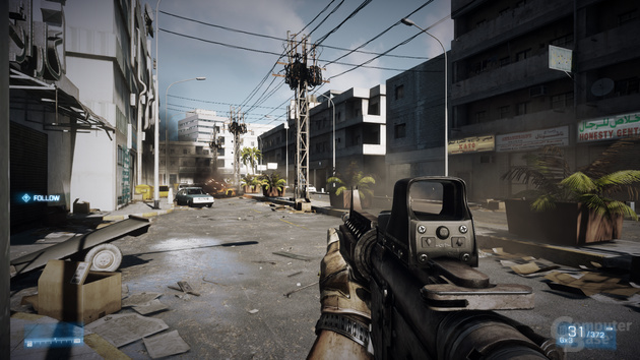 Battlefield 3, maximale Details, DX10