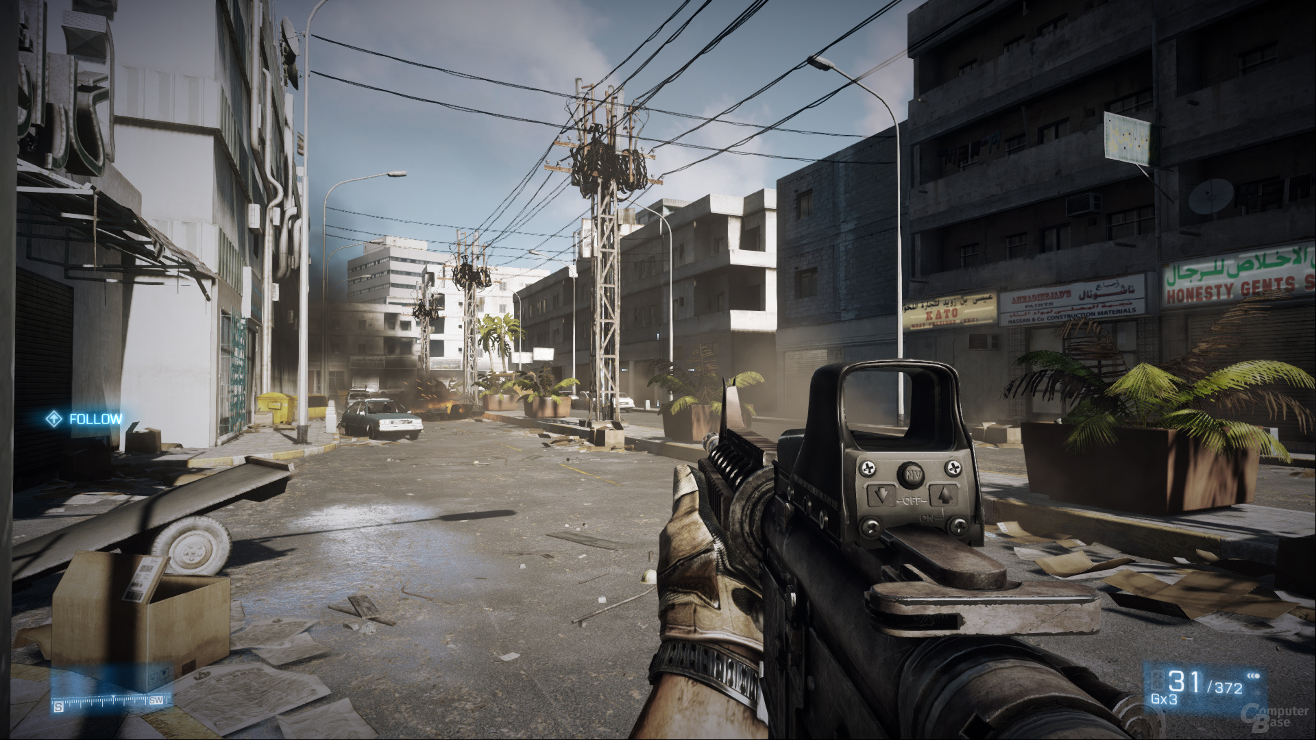 Battlefield 3, reduzierte Details, DX10