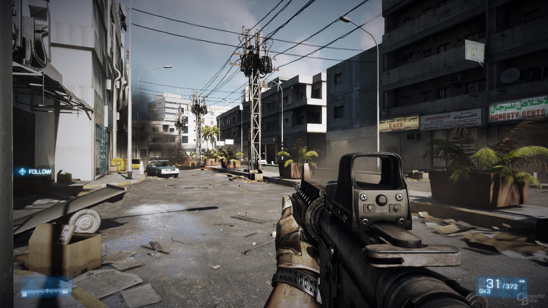 Battlefield 3, reduzierte Details, DX11