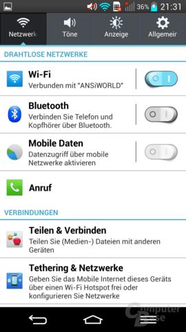 LG G2 – Netzwerk-Optionen