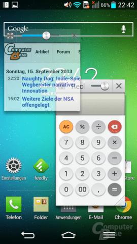 LG G2 – QSlide-Apps auf Homescreen