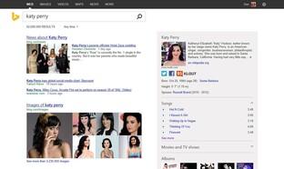 Beispiel für Suchergebnisseite des neuen Bing