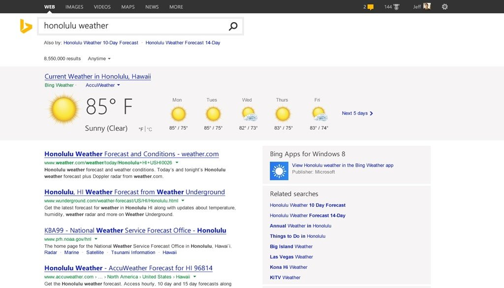 """Neue Bing-Funktion """"Pole Position"""""""