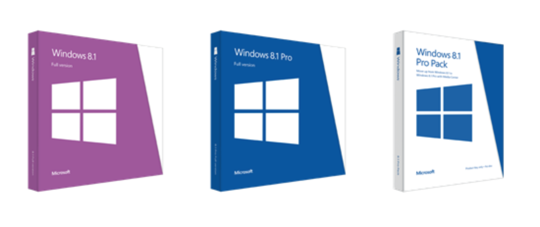 Windows 8.1 Verpackungen