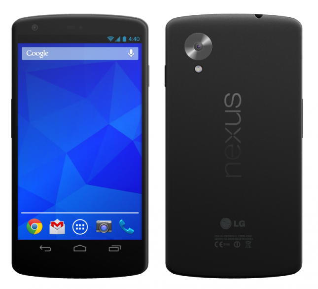 Renderbild des Google Nexus 5