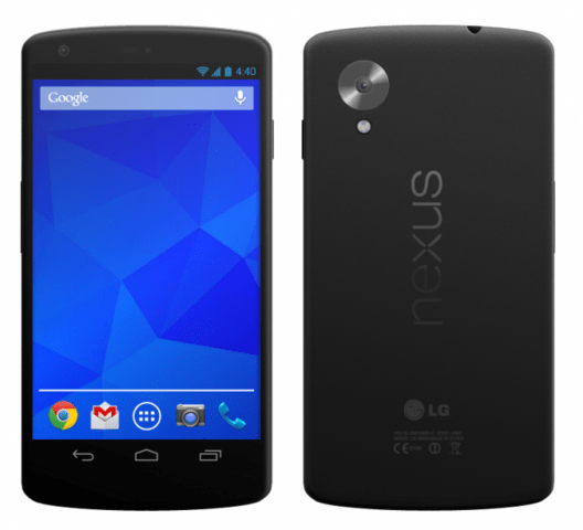 Renderbild des Google Nexus 5