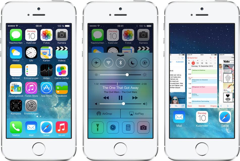 iOS 7 auf dem iPhone 5S
