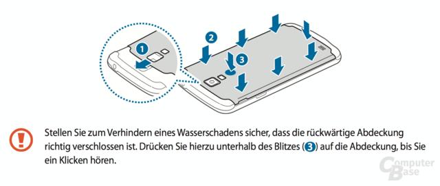Auszug aus dem Handbuch zum Galaxy S4 Active