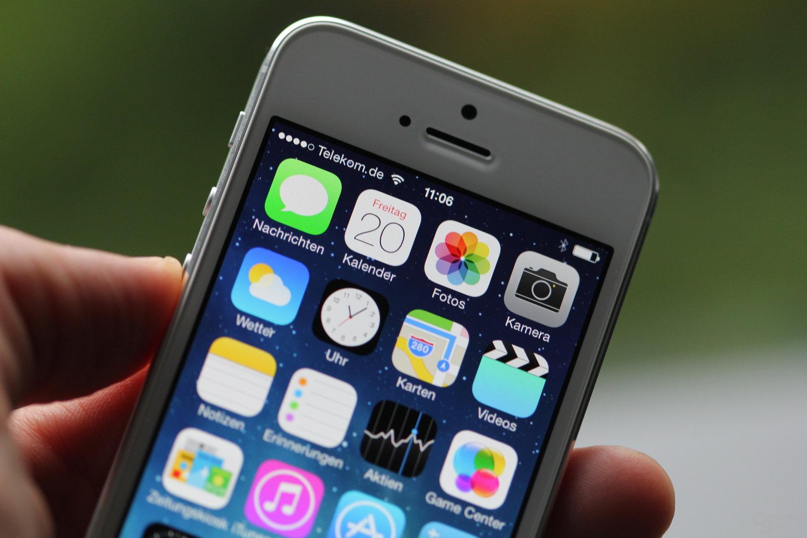 iPhone 5S mit iOS 7