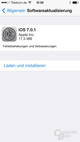 Zur Begrüßung: Update auf iOS 7.0.1