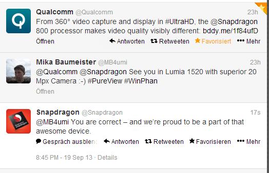 Twittermitteilung von Qualcomm